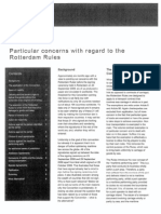 Particular Concerns - Rotterdam Rules