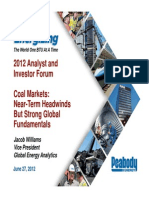 Forward Look Coal Markets 07 2012 Peabody