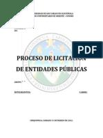 Proceso de Licitacion de Entidades Publicas