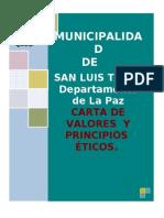 CARTA DE PRINCIPIOS Y VALORES ÉTICOS