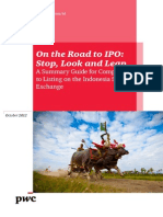 Road to IPO on IDX October 2012 PwC