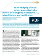 Premium Digest Ensuring Pipeline Integrity of an Unpiggable Pipeline a Case Study of a Project Including Line Preparation ILI Rehabilitation and Certification