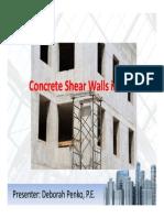 Concrete Shear Wall Presentation