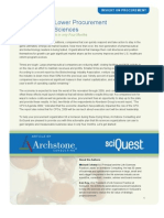 10 Strategies to Cut Procurement Costs in Four Months - A SciQuest Archstone White Paper