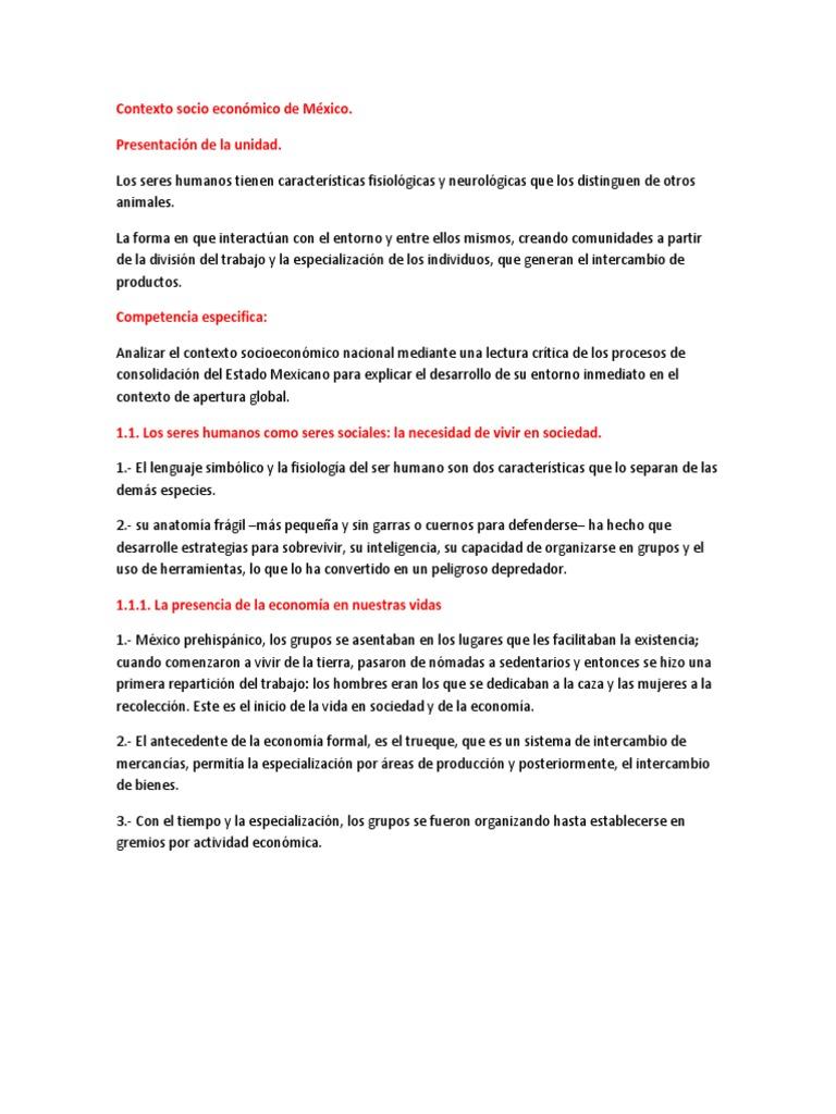 Contexto socio económico de México