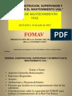 Presentacion CNC. Diseño de Carreteras  y su incidencia en el Mantenimiento Vial