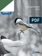 Abbott financial report analysis 2012