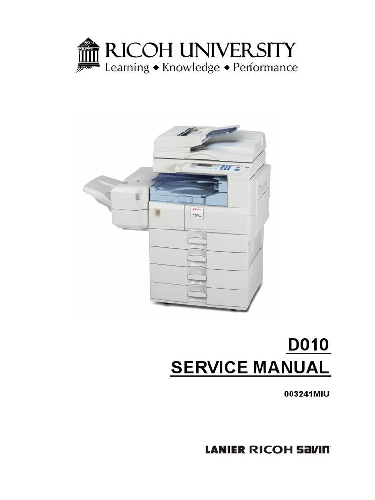 manual de servicio 2500 image scanner photocopier rh scribd com Ricoh Service Exellence Ricoh Proactive Services