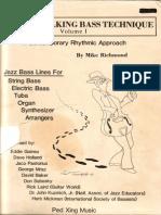 Mike Richmond - Modern Walking Bass Technique - Part 1