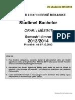 FIM - OrARI Bachelor Sem. Dimror 2013-14