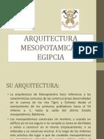 Arquitectura Mesopotamica y Egipcia