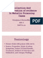 Evidence collection in metallic poisoning cases