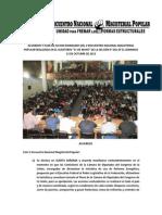 Acuerdos v Encuentro Nacional Magisterial Popular