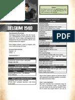 Belgium 1940 Army List