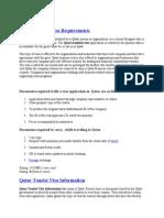 Qatar Business Visa Requirements