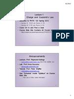 Physics 122 Lecture slides