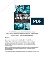 Investment Management Cover and Preface