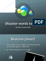 disaster words quiz 2