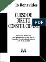 Curso de Direito Constitucional - Bonavides (i) Sumario Paulo