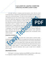 Design and Evaluation of a Haptic Computer-Assistant for Tele-Manipulation Tasks