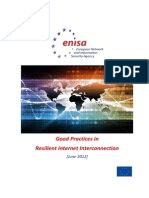 ENISA Report on Resilient Internet Interconnections