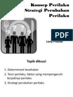 Konsep Dan Strategi Perubahan Perilaku(1)