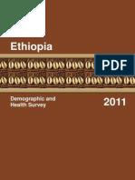 Demographic Health Ststistic Ethiopia.