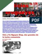 Noticias Uruguayas Lunes 14 de Octubre Del 2013