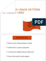A Study of Usage Pattern of Credit Card