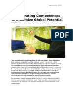 Orchestrating Competences to Maximize Global Potential