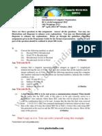 CS-64 Solved Assignment 2012