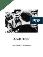 Hitler Last Political Testament