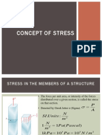 Concept of stress