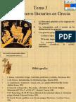 Tema 3. G Neros Literarios en Grecia