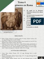 Tema 4. Los Generos en Roma