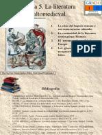 Tema 5. La Literatura Altomedieval
