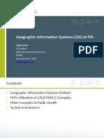 GIS Portfolio FHI Nov 2011