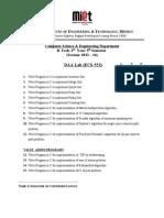 Daa Practical List