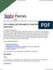 Low Voltage Ride Through for Wind Turbine Generators Patent (Patent