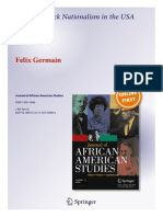 "'A ""New"" Black Nationalism in the USA and France' by Dr. Felix Germain"