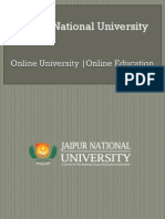 Jaipur National University | Online education