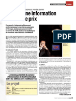 SWIFT ICT Trends Gold Award 2005 - Trends article 24 Nov 2005 - French Version