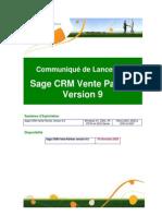 Communique de Lancement SageCRM VP v9