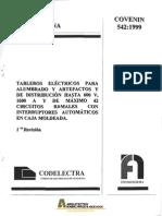 Covenin 0542-1999 Tableros electricos para alumbrados y artefactos.pdf