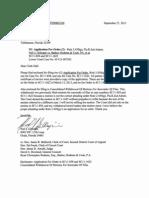 Application for Order SC11-1622, SC11-858, Fla. Supreme Court Clerk Hall-Sep-27-2013