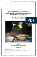 Effectiveness Review: Improving Women's Leadership and Effectiveness in Agricultural Governance, Nigeria