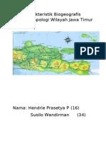 Karakteristik Biogeografis Sosioantropologi Wilayah Jawa Timur