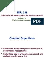 EDU 385 - Session 11 Performance Assessment