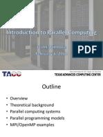 Intro Parallel Computing Feb 2012 Willmore