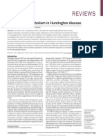Cholesterol Metabolism in Huntington Disease